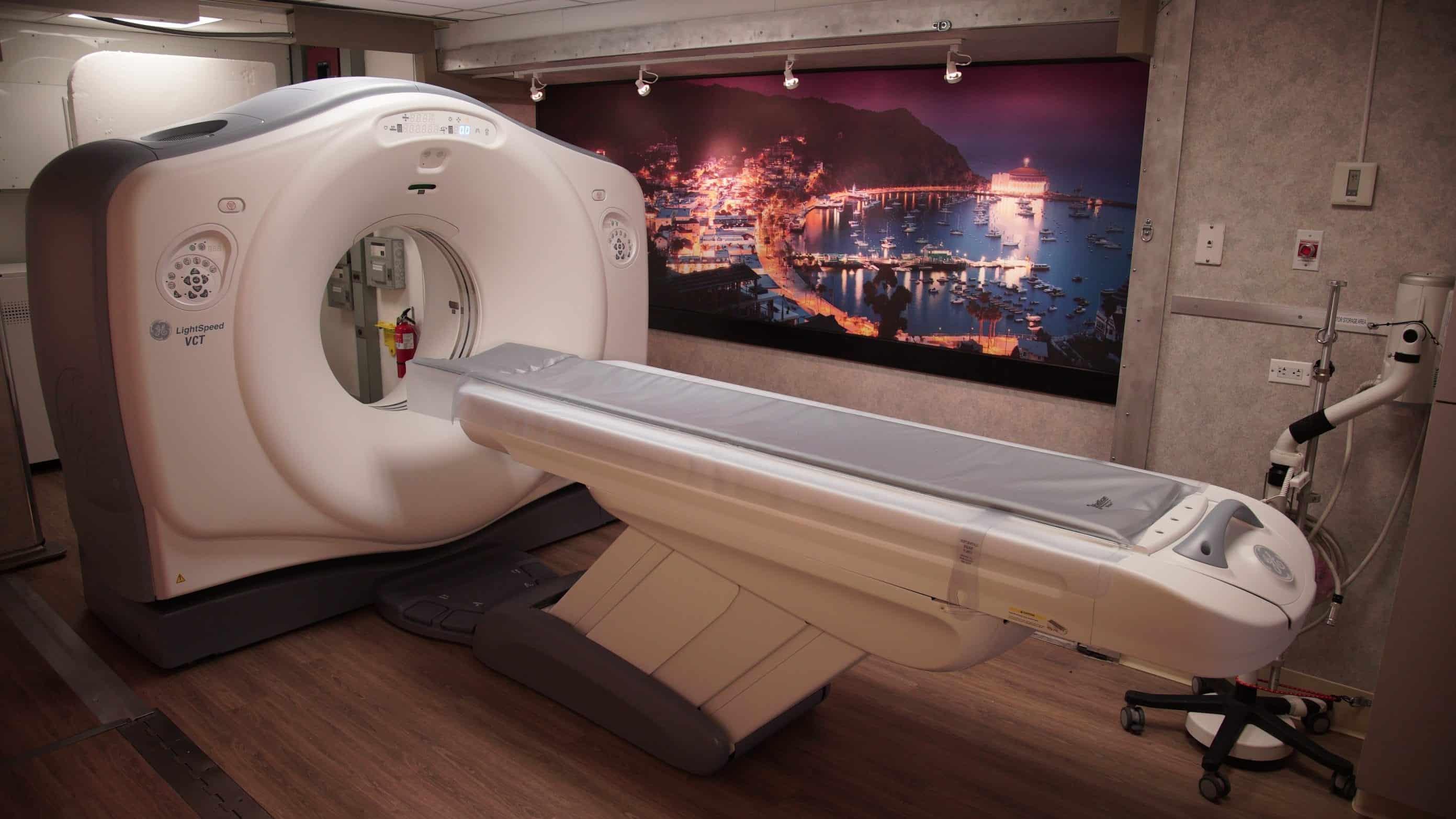 Inside of Catalina Imaging Mobile CT Trailer