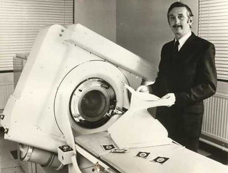 Godfrey Hounsfield with CT scan