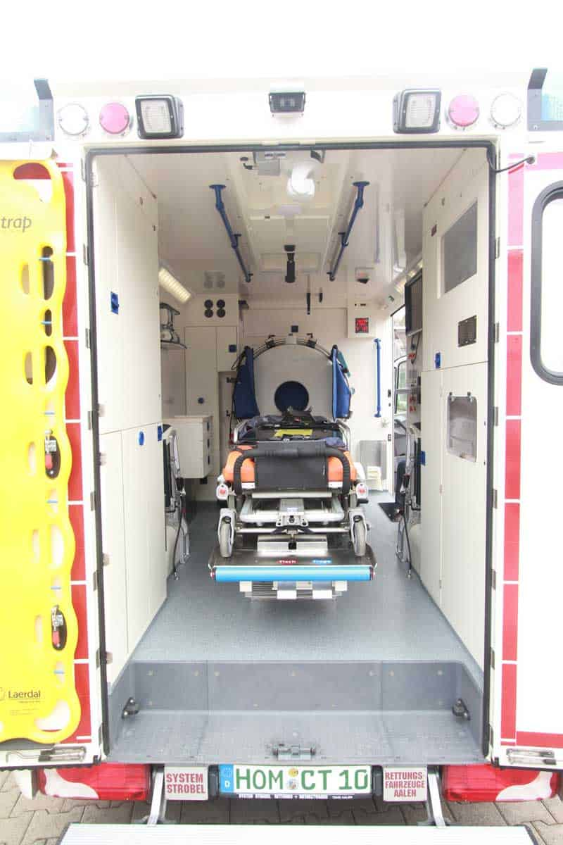 mobile CT scanner used for MSU mobile stroke unit